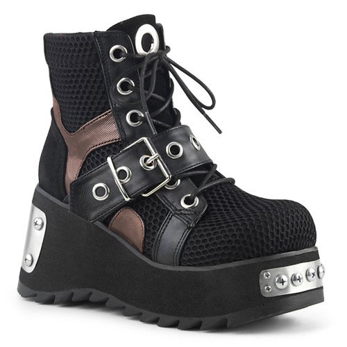 Punk Ankle Boots Women's Demonia Scene-53