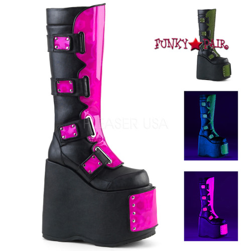 Demonia Slay-310, Interchangeable Panels Platform Boots
