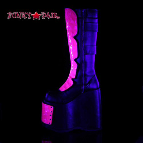 Slay-310, Interchangeable Panels Platform Boots inner side view