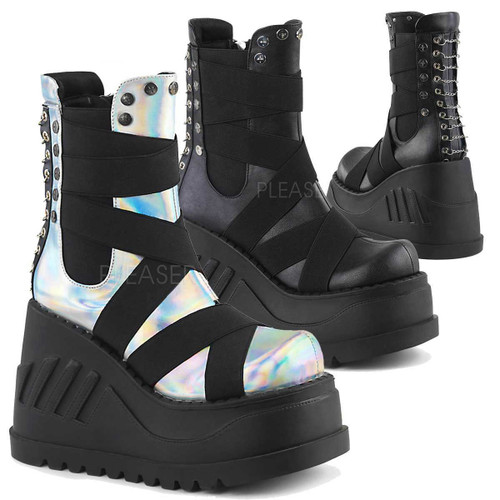 Demonia | Goth Punk Ankle Boots Stomp-25