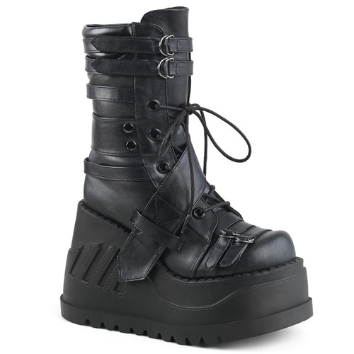 Demonia Stomp-26, Wedges Mid-Calf Platform Boots