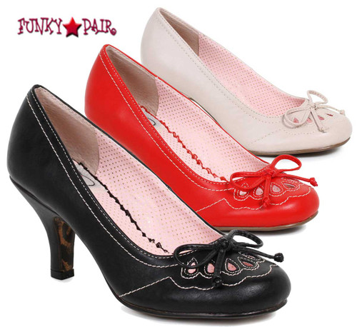 BP310-Rayna, 3 Inch Pump with Bow Detail