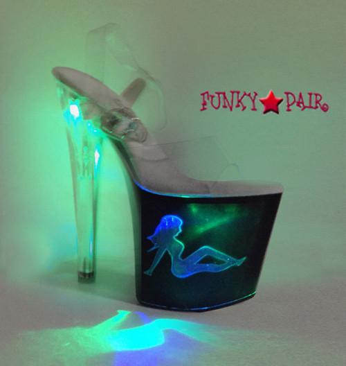 "Ellie Shoes | 821-Tessa 8"" Stripper Ligh up Truckgirl Platform | FunkyPair.com"