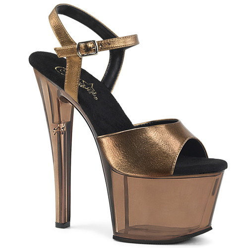 Bronze Tinted Exotic Dancer Shoes by Pleaser Sky-309MT