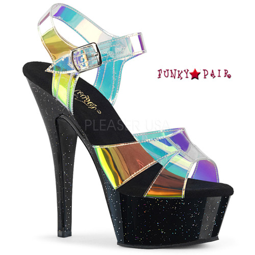 Kiss-220MMR, Multi-Color Straps Sandal Color Magic Mirror TPU/Blk