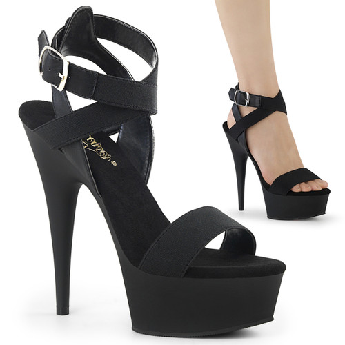 "6"" Ankle Wrap Platform Sandal   Pleaser Delight-646"