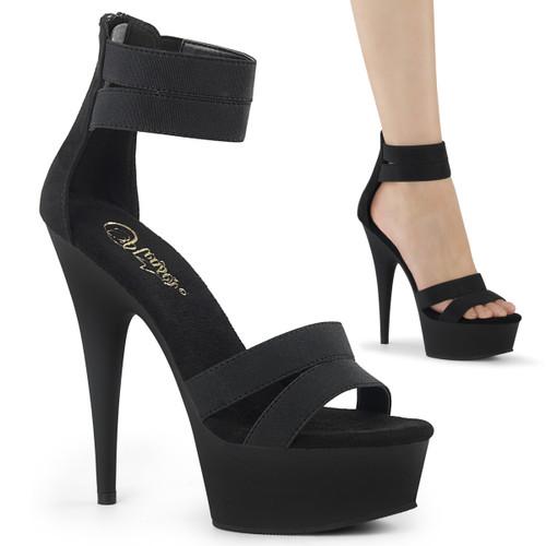 Stripper Shoes   Delight-623, Elastic Band Strap Platform Sandal