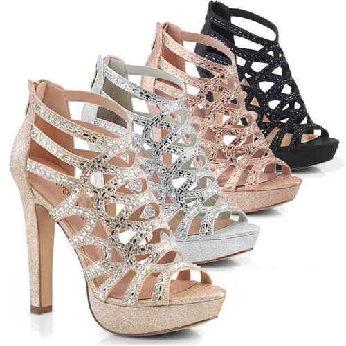 """4.5"""" Strappy Party Sandal  Fabulicious   Selene-24"""