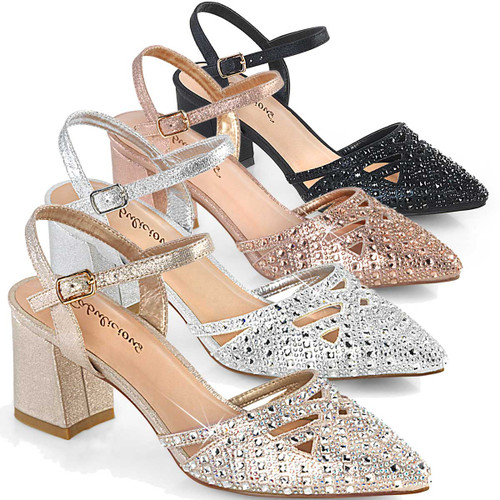 """Faye-06, 2.75"""" Block Heel Ankle Strap Fabulicious Shoes"""