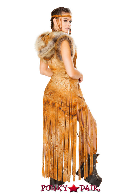J. Valentine | Fringe Duster Rave Wear JV-FF100 FF199 sold separately. Color Rusty Tie-Dye Back view