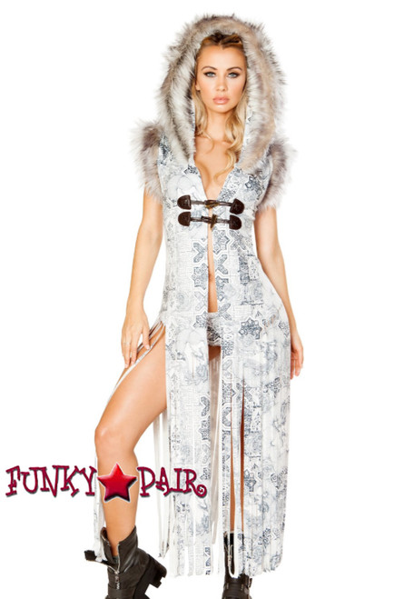 J. Valentine | Fringe Duster Rave Wear JV-FF100. Headband FF199 sold separately. Color White= Celtic Dragon