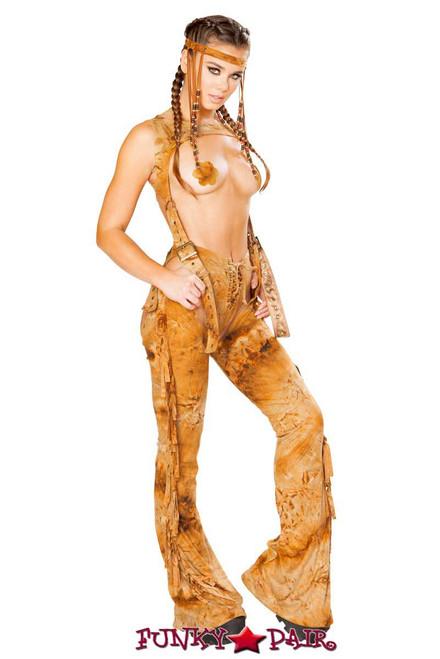 J. Valentine | Fringe Chaps Rave Wear JV-FF101 color rusty back view