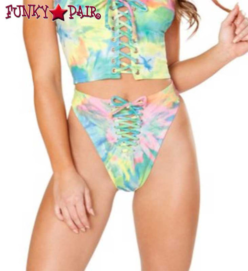 J. Valentine | Lace up Bottom Rave Wear JV-FF198 color multi