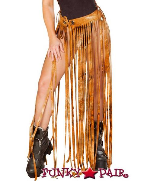 J. Valentine   Fringe Skirt Rave Wear JV-FF194 Color Rusty Tie-Die One Size