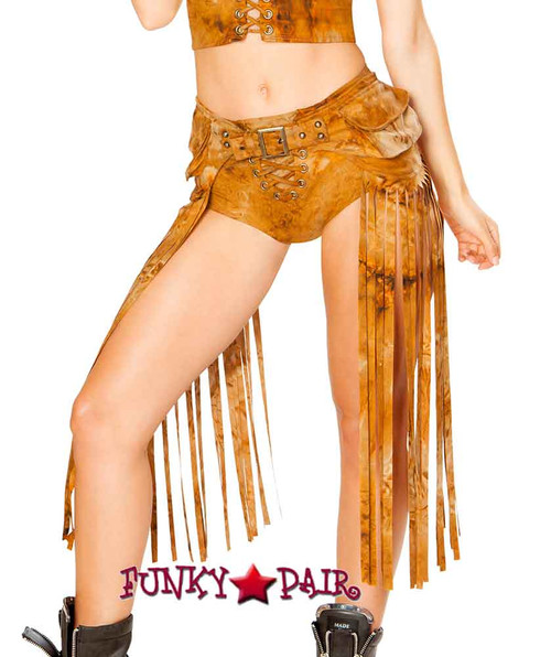J. Valentine | Fringe Pack Rave Wear JV-FF193 color rusty tie die One Size
