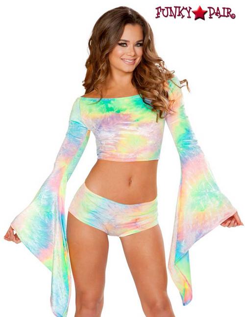 Rave Wear Velvet Crop Top | J Valentine JV-FF115 Color pastel