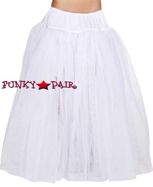 Full Length White Petticoat Roma Costume R-4554