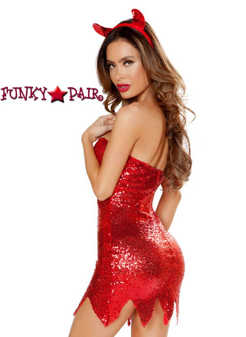 Roma Costume | R-4813, The Devilish One side view