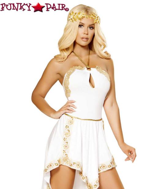 Roman Golden Goddess Roma Costume   R-4877