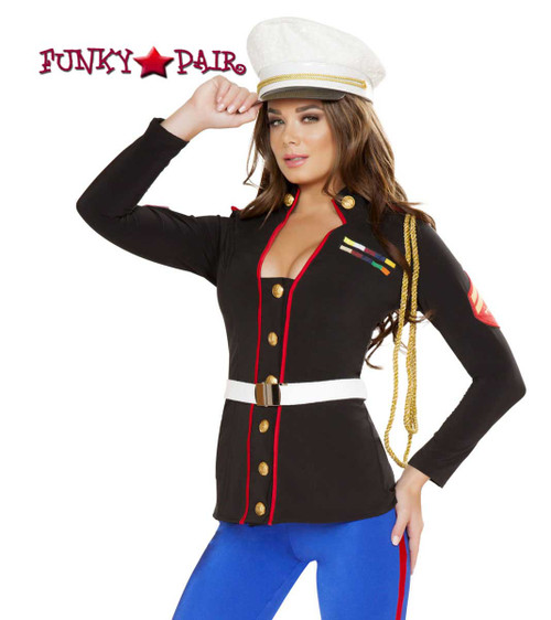 Roma Costume | R-4701, Sexy Marine Corporal close up view