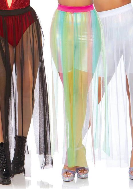Sheer Slit Long Skirt Leg Avenue LA-86773