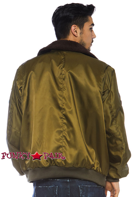 Top Gun Men's Bomber Jacket | Leg Avenue TG86762 back view