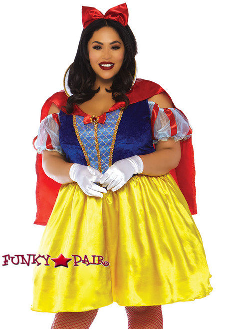 Sultry snow white adult costume