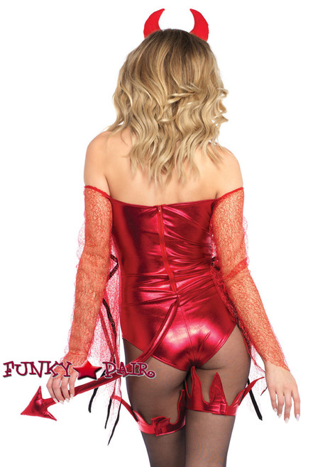 Dazzling Red Devil Costume | Leg Avenue LA-86733 back view