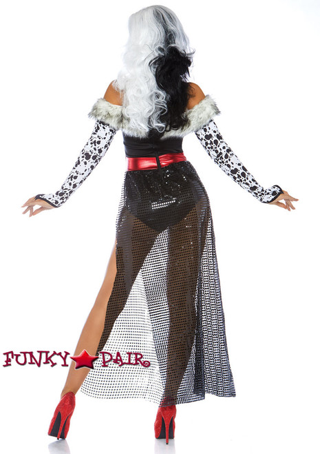 Dalmatian Dame Costume | Leg Avenue LA-86732 back view