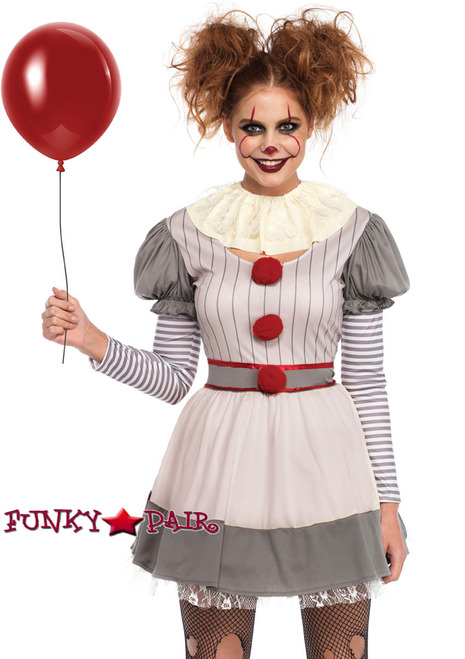 Women's Creepy Clown Costume | Leg Avenue LA-86729