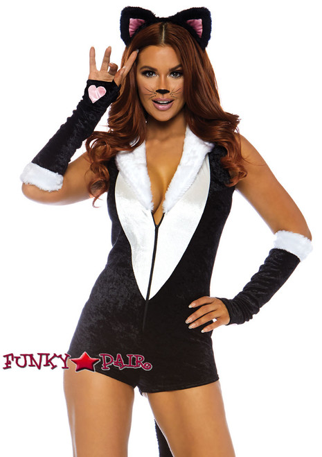 Frisky Kitty Romper Costume Leg Avenue LA-86738