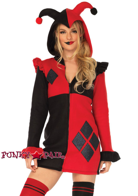 Cozy Harlequin Costume | Leg Avenue LA-85638  front view