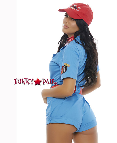 ForPlay   FP-557230, Pit Stop Hottie Romper Costume back view
