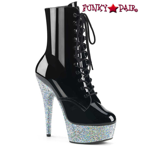 Pleaser | Delight-1020LG, 6 Inch Exotic Dancer Glitter Platform