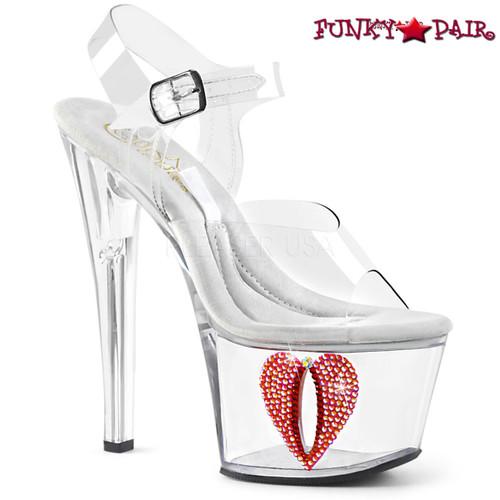 Pleaser Shoes | Tipjar-708-6, Platform Sandal with Base Compartment