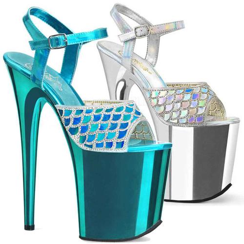 Mermaid Scale Platform Stiletto Heel | Pleaser Shoes Flamingo-809MMRS