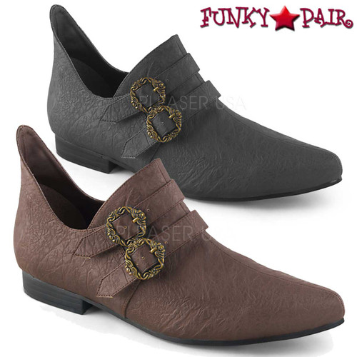 Men's Renaissance Shoes | Funtasma Aldix-20 color available: black faux leather and brown faux leather