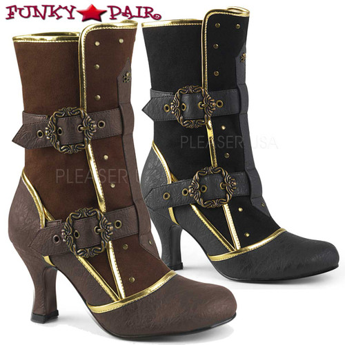 Funtasma | Matey-205, Cosplay Ankle Boots with Octopus Buckle Straps