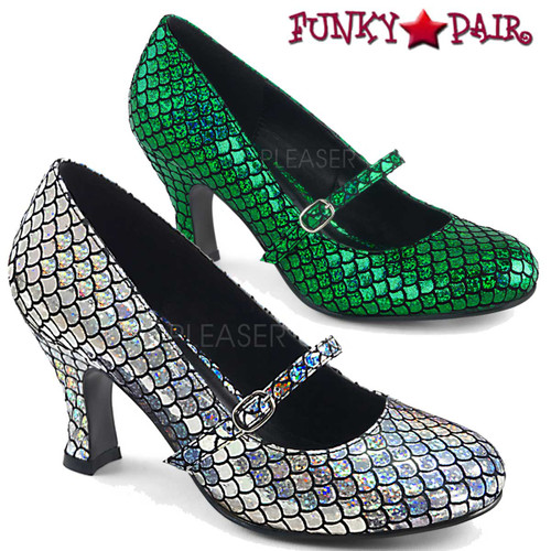 Funtasma | Mermaid-70, Mermaid Mary Jane color available: Silver or Green