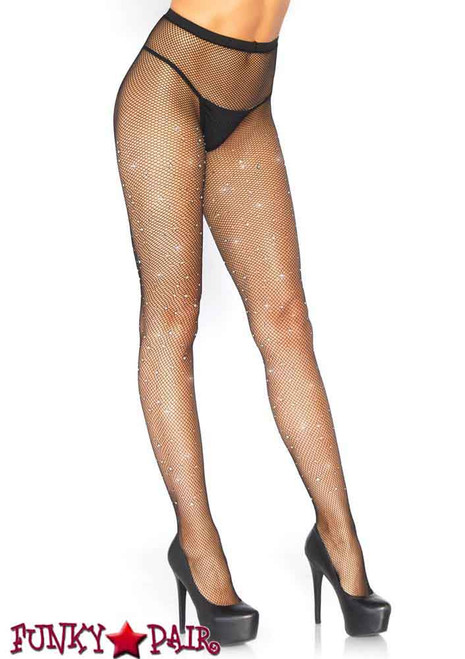 Leg Avenue | LA9026, Fishnet Crystalized Tights