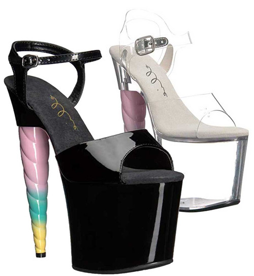 Unicorn Heel Platform Sandal | Ellie Shoes 777-Dashing