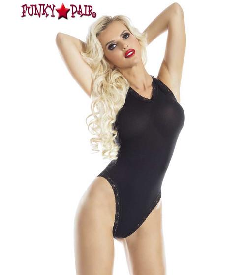 RaveWear | AB6083, Opaque Halter Bodysuit Lingerie | FunkyPair.com