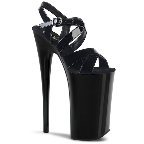 Pleaser | Beyond-097, 10 Inch Stripper Heel Criss Cross Platform Sandal