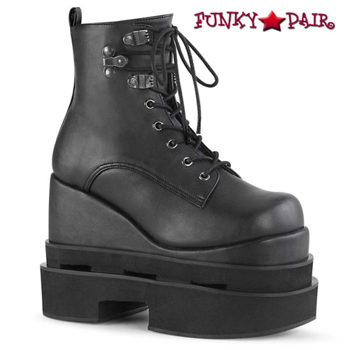 Women Demonia Boots | ETERNAL-106, Tiered Wedge Ankle Boots