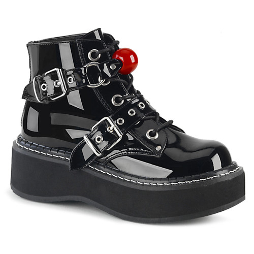 EMILY-318, Ankle Boots with Red Ball Demonia Shoes