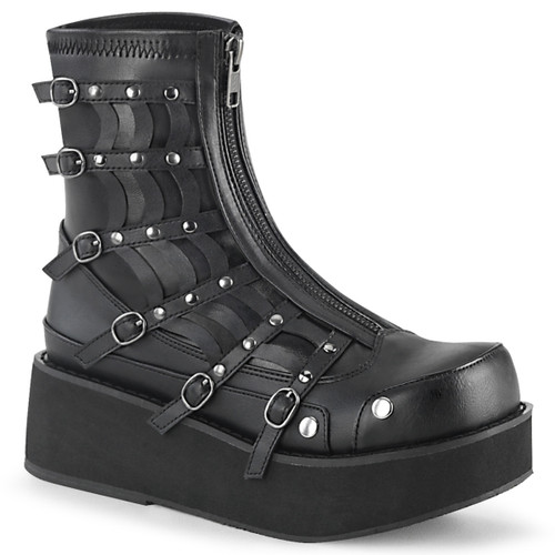 Gothic Platform Zip up Ankle Boots Demonia SPRITE-100