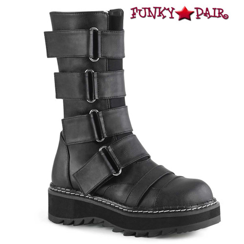 Demonia | LILITH-211, Strap Mid-Calf Boots