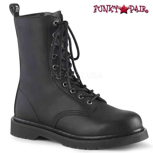 Demonia | BOLT-200, Mid-Calf Lace-up Combat Boots