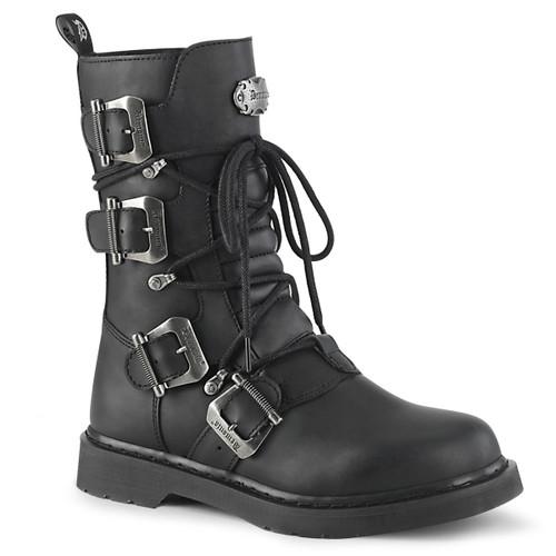 Mid-Calf Multi Buckles Combat Boots Men's Demonia | BOLT-265,