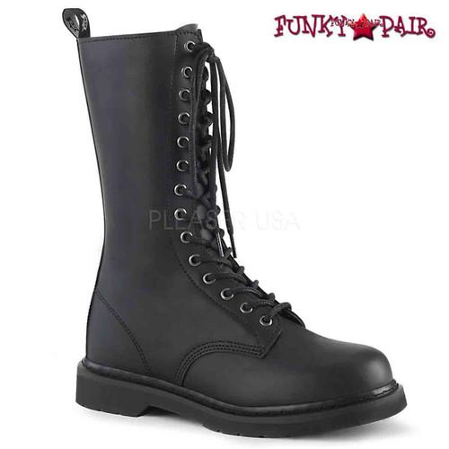 Demonia | BOLT-300, Mid-Calf Lace up Combat Boots